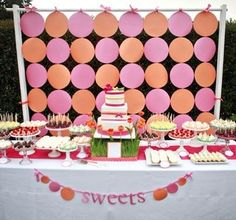 Polka Dot Backdrop (plus other nice DIY ideas for your special day)