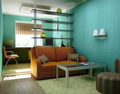 Узкая длинная детская комната дизайн