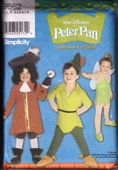 Peter Pan Costume Pattern Simplicity 9662