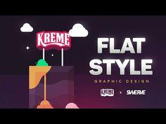 Flat Design | Illustrator Tutorial by Swerve® - YouTube