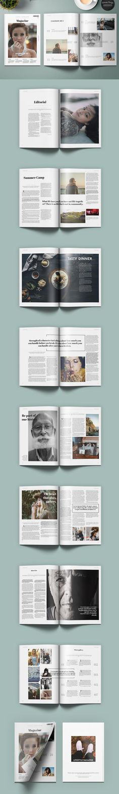 #magazine #design from Kahuna Design | DOWNLOAD: https://creativemarket.com/KahunaDesign/530020-Lifestyle-Universal-Magazine?u=zsoltczigler