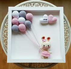 Paper Flowers Diy, Crochet Bunny, Box Frames, Free Pattern, Christmas Ornaments, Holiday Decor, Gifts, Handmade, Etsy