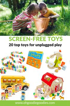 The top 20 screen-free toys - no batteries, no blinking lights, no tech - powered purely by imagination. Toys For Girls, Kids Toys, Fun Indoor Activities, Big Battle, Indoor Play, Top Toys, Business For Kids, Educational Toys, Imagination