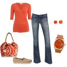 Coral Half Sleeve Wrap Top