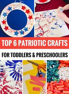 Patriotic Crafts for Toddlers and Preschoolers Looking for some fun crafts to do with your toddler or preschooler for the of July? Here are six crafting activities that they are sure to enjoy! 4th July Crafts, Fourth Of July Crafts For Kids, Patriotic Crafts, Toddler Preschool, Toddler Crafts, Preschool Activities, Preschool Arts And Crafts, Preschool Learning, Educational Activities