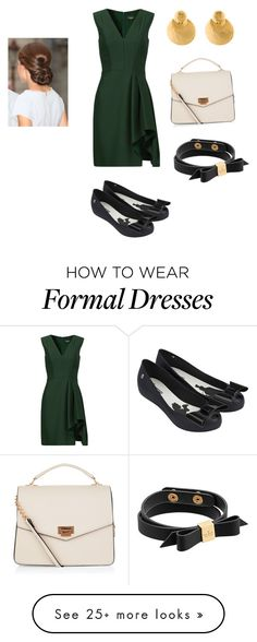 """""""Faith formal work event"""" by onedayrobots on Polyvore featuring J. Mendel, New Look, Melissa, Kate Spade and Kenneth Jay Lane"""