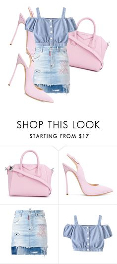 """""""UNTITLED"""" by kompaktt on Polyvore featuring Givenchy, Casadei and Dsquared2"""