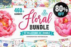 80% OFF! The Floral Bundle 12in1  - Illustrations