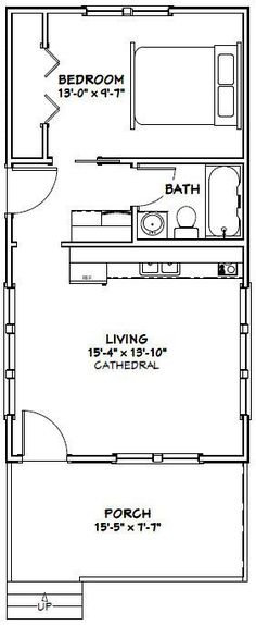 16x30 tiny house 16x30h3a 480 sq ft excellent for Weekend cabin floor plans