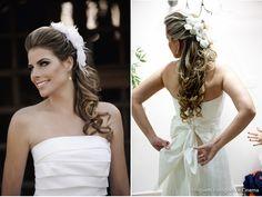 Penteado de Noiva Meio Preso | Peguei o Bouquet  www.pegueiobouquet.com