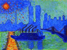 Billedresultat for andre derain paintings Maurice Denis, Henri Matisse, Modern Artists, French Artists, Edouard Vuillard, Art Fauvisme, Andre Derain, Post Impressionism, Blue Art