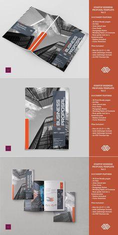 15 elegant business brochure templates design inspiration startup business proposal vol 2 wajeb Choice Image