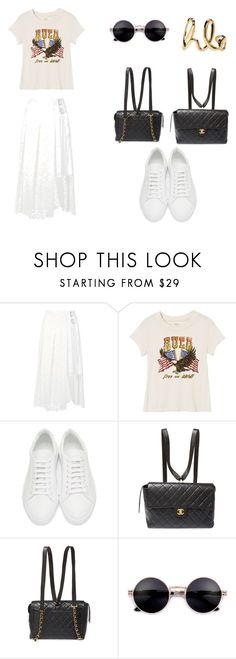 """""""weekend"""" by xinyuzhang-1 on Polyvore featuring Sacai, RVCA, Jil Sander, Chanel and Chloé"""