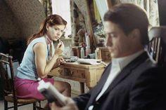 Dermot Mulroney and Debra Messing in The Wedding Date