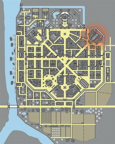 City Layout, Dungeon Maps, Fantasy Map, Star Wars Rpg, Shadowrun, Cartography, Cyberpunk, Floor Plans, How To Plan