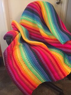 Cosy stripe made in rainbow colours for me :)