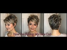 Hair Tutorial (blow drying) with my New Cut - Swept Bangs & Smooth Back Cute Haircuts, Cute Hairstyles For Short Hair, Pixie Hairstyles, Hairstyles 2016, Pixie Haircuts, Long Pixie Cuts, Short Hair Cuts, Short Hair Styles, Short Stacked Haircuts