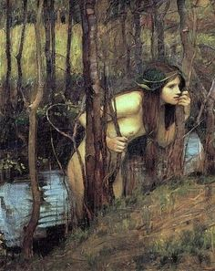 John William Waterhouse -  Naiads  were a type of nymph (female spirit) who presided over fountains, wells, springs, streams, brooks and other bodies of fresh water.