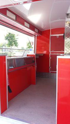 Photos Of - Catering Trailers - Motorised Catering Vans - Mobile Kiosks - Catering Kiosks - Coffee Vans - Catering Trailers - Food Carts Catering Van, Catering Trailer, Mobile Kiosk, Mobile Shop, Trailer Decor, Food Trailer, Coffee Carts, Coffee Truck, Food Truck Interior