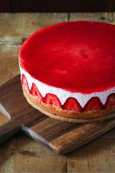 Strawberry Yogurt Mousse Cake via The Little Epicurean