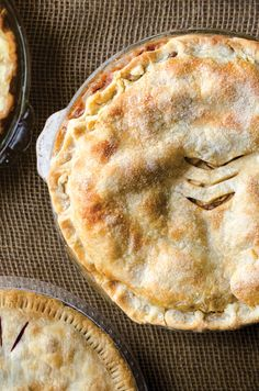 Caramel-Apple Pie | A cinnamon-spiced sauce of butter and melted caramel candies poured over apples gives this pie, from Oklahoma home baker Amanda Cadwell, a wonderfully sweet, gooey filling. This recipe first appeared in our August/September 2013 Heartland issue with the story Big Pie Country. | From: saveur.com