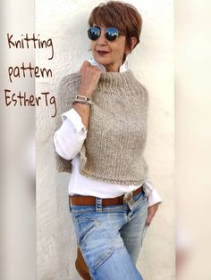 Poncho Knitting Patterns, Knit Patterns, Designer Knitting Patterns, Knitting Wool, Knitting Ideas, Winter Outfits, Casual Outfits, Cute Outfits, Knitted Poncho