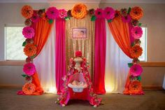 Struggling for ideas for the baby naming ceremony decoration? Remarkable cradle ceremony decoration & themes to make your little one's day memorable. Wedding Stage Decorations, Backdrop Decorations, Diwali Decorations, Festival Decorations, Flower Decorations, Backdrops, Paper Flower Decor, Paper Flower Backdrop, Paper Flowers