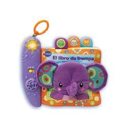 <strong>Vtech - El Libro de Trompa</strong>, un divertido libro con un suave elefante, ilustraciones infantiles y diferentes texturas para desarrollar el sentido del tacto del bebé. Tiene 6 páginas interactivas con 3 botones de tela para los animales (león, mono y tortuga) y un sensor en las páginas de tela para reconocer el animal presionado. Un botón luminoso permite escuchar las canciones y frases del libro. Incluye más de 50 canciones, melodías, sonidos y voces. Es fácil...