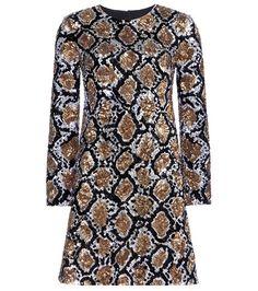 Saint Laurent Sequin-embellished Silk Dress For Spring-Summer 2017