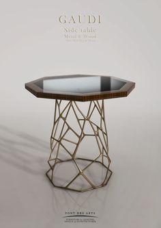 Gaudi side table by Pont des Arts Studio (Paris). Designer Monzer Hammoud.