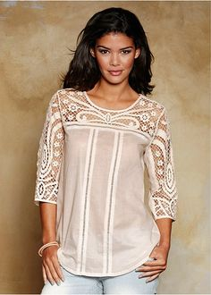 Broderie anglaise detail tunic | Tops | Womens Clothing | bonprix
