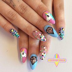 Cutest nails eva!! #nailart #melbournenailart... | I Scream Nails - Melbourne Nail Art