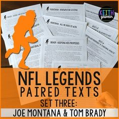 NFL season starts soon! These high-interest paired texts are designed for students reading on grade levels 4-8. Quizzes and a writing prompt are included too.