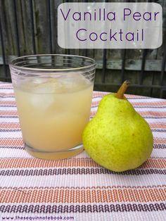 Vanilla Pear Cocktail - yum! vodka + pear juice + fresh pear