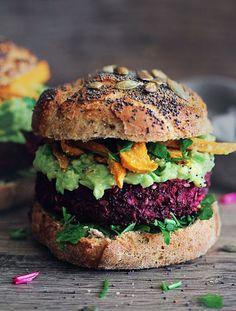 This beet burger looks so good.