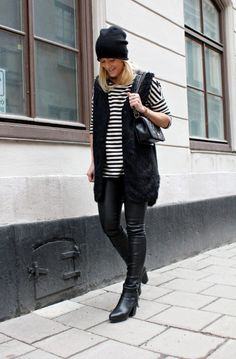 25 Cool Ways to Wear a Faux FurVest | StyleCaster