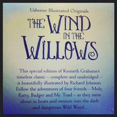 The Wind in the Willows | Complete and  Unabridged | Published by Usborne | www.usborne.com