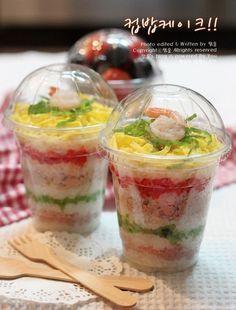 가을 소풍도시락으로 컵밥케이크~[컵밥,피크닉도시락] - Lunch in a Cup!