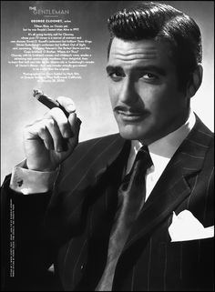 George Clooney as Clark Gable - Vanity Fair Hollywood Issue by Herb Ritts, April 2000