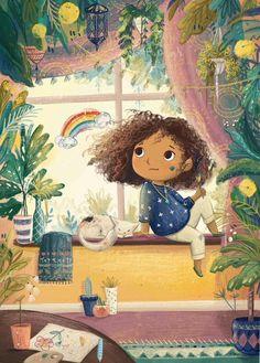 Art And Illustration, Character Illustration, Illustration For Children, Cartoon Kunst, Cartoon Art, Little Girl Illustrations, Book Illustrations, Whimsical Art, Cute Drawings