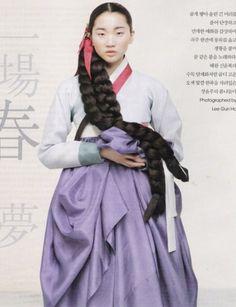 한복 Hanbok : Korean traditional clothes[dress] from Korea by Gun-Ho Lee for Vogue Korean Traditional Clothes, Traditional Fashion, Traditional Dresses, Vogue Korea, Korean Dress, Korean Outfits, Korean Girl, Asian Girl, Korean Star