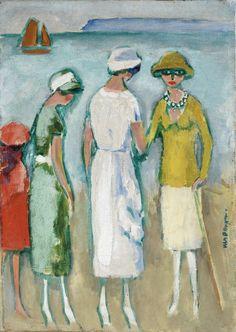 Kees van Dongen (1877-1968), Les Élégantes à Deauville, huile sur toile, 47 x 33cm. Frais compris : 372 000 €. Rouen, dimanche 20 mars. Bernard d'Anjou SVV.