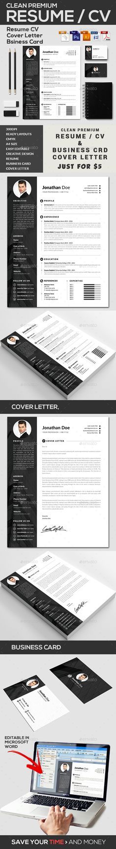 Illustrator Resume Templates Resume Templategresume On Creativemarket  Beautiful Resume