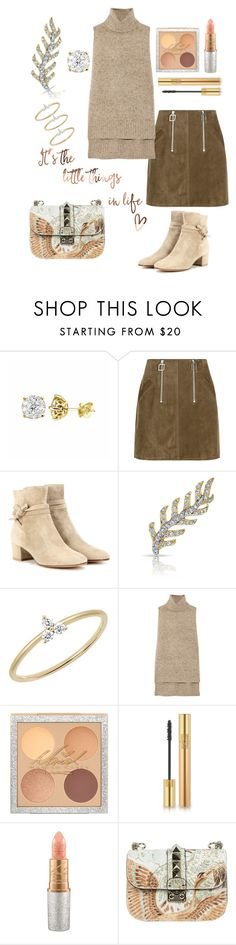 """""""Little things"""" by samssr ❤ liked on Polyvore featuring Courrèges, Gianvito Rossi, Anne Sisteron, EF Collection, ADAM, Yves Saint Laurent, Mariah Carey and Valentino"""