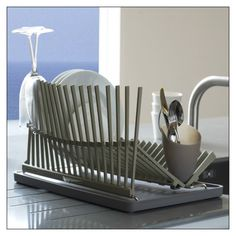 high & dry Dish Rack by Black and Blum (HIGHDRY) at Pure Design / Accessories / Kitchen ::: Furniture for the Home, Office, Home Office, and More at Pure Design Online!