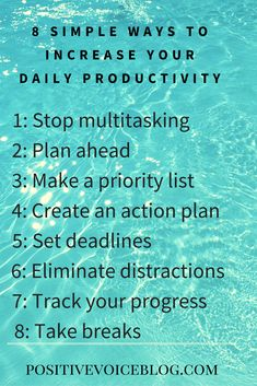 8 simple ways to increase your daily productivity