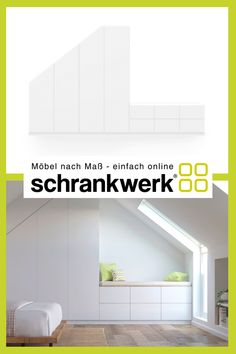 Wardrobe with bench in sloping roof schrankwerk.de - Trend Old Book Ideas 2019 Self Design, Can Design, Loft Conversion Tips, Small Living, Home And Living, Attic Loft, Living Environment, Floor Space, Kidsroom