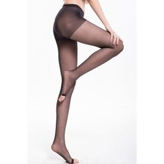 Open-toe Seamless Semi-sheer Tights ($6.99) ❤ liked on Polyvore featuring intimates, hosiery, tights, nude, nylon hosiery, seamless stockings, sheer tights, pantyhose stockings and panty hose stockings