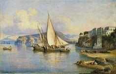 Consalvo Carelli (1818-1910) - HAFEN VON SORRENT.