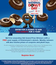 I entered the @entenmanns National Donut Day #Sweeps for a chance to win FREE donuts for a year!